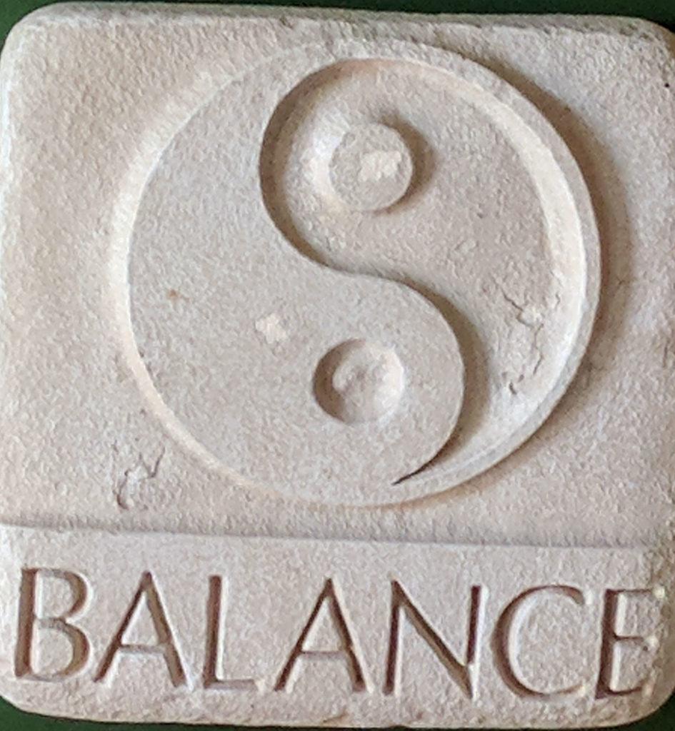Asian letter for balance