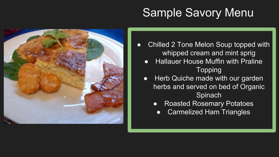 "<img src=""sample of savory menu"" alt=""sample of savory menu"">"