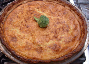 "alt=""hash brown quiche served for savory breakfast at hallauer house b & b"""