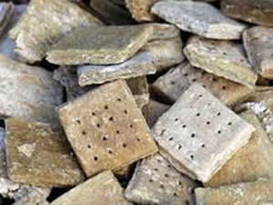 "alt=""civil war hardtack as example of food given soldiers in civil war"""