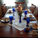 "alt=""table set for breakfast in dining room at hallauer house bed & breakfast"