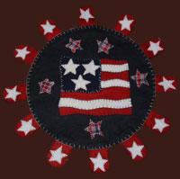 penny rug patriotic