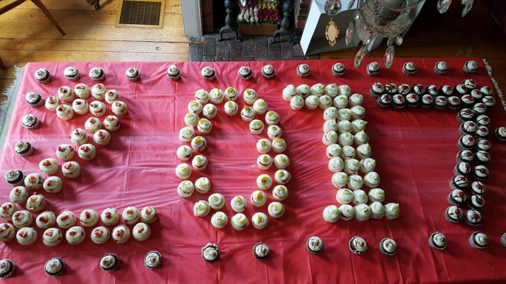 Olivia's cupcake display