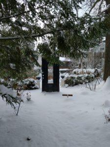 Black Door at Soundscape Garden