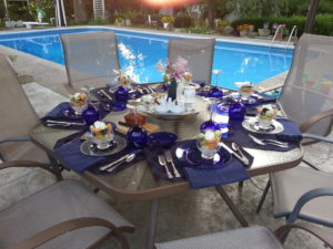 Outside table setting